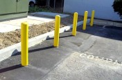 Parking Lot Bollards in Nashville TN by LinePro Striping