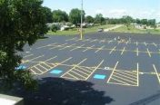 Parking lot striping and ADA marking